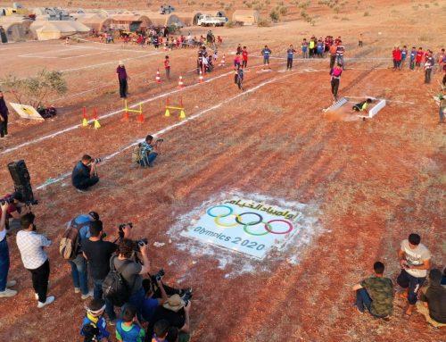 Anak-anak pengungsi Suriah gelar 'Olimpiade Tenda'